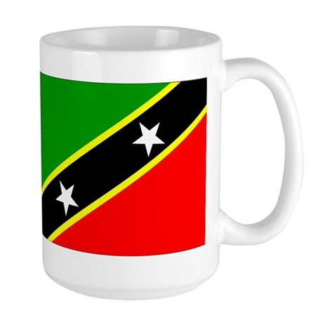 Saint Kitts Nevis Flag Large Mug