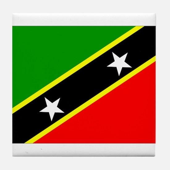Saint Kitts Nevis Flag Tile Coaster