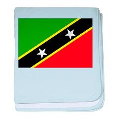 Saint Kitts Nevis Flag baby blanket