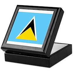 Saint Lucia Flag Keepsake Box