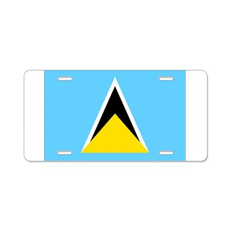 Saint Lucia Flag Aluminum License Plate