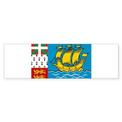 Saint Pierre and Miquelon Fla Bumper Sticker
