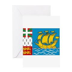Saint Pierre and Miquelon Fla Greeting Card