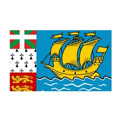 Saint Pierre and Miquelon Fla 38.5 x 24.5 Wall Pee