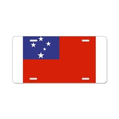 Samoa Flag Aluminum License Plate