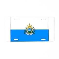 San Marino Flag Aluminum License Plate