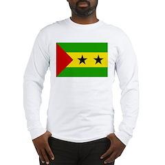 Sao Tome and Principe Flag Long Sleeve T-Shirt