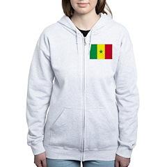 Senegal Flag Zip Hoodie