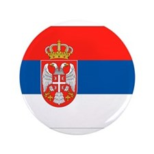 "Serbia Flag 3.5"" Button"