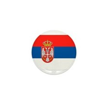 Serbia Flag Mini Button (10 pack)