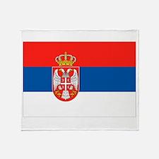 Serbia Flag Throw Blanket