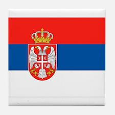 Serbia Flag Tile Coaster