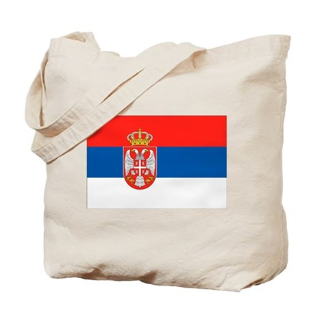 Serbia Flag Tote Bag