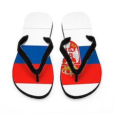 Serbia Flag Flip Flops