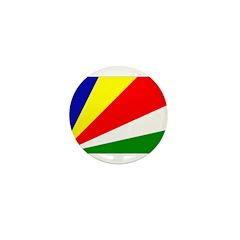 Seychelles Flag Mini Button (10 pack)
