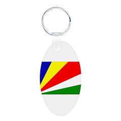 Seychelles Flag Keychains
