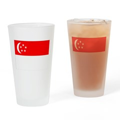 Singapore Flag Drinking Glass