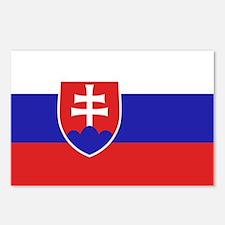Slovakia Flag Postcards (Package of 8)