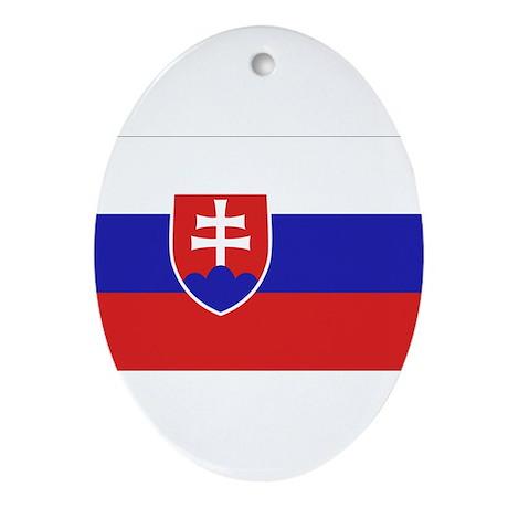 Slovakia Flag Ornament (Oval)