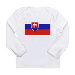 Slovakia Flag Long Sleeve Infant T-Shirt