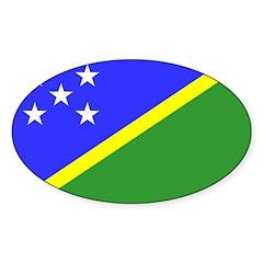 Solomon Islands Flag Sticker (Oval 50 pk)