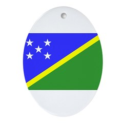 Solomon Islands Flag Ornament (Oval)