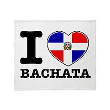 I love Bachata Throw Blanket