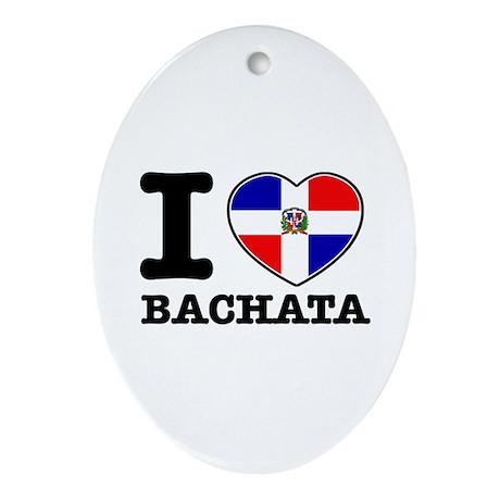 I love Bachata Ornament (Oval)