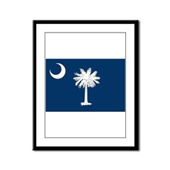 South Carolina Flag Framed Panel Print