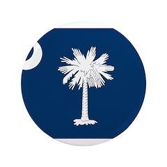 """South Carolina Flag 3.5"""" Button (100 pack)"""