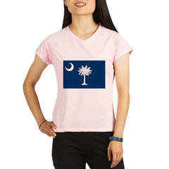 South Carolina Flag Performance Dry T-Shirt