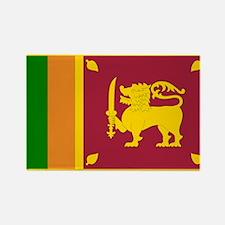 Sri Lanka Flag Rectangle Magnet