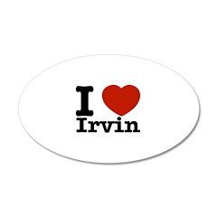 I love Irvin 22x14 Oval Wall Peel
