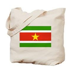 Suriname Flag Tote Bag