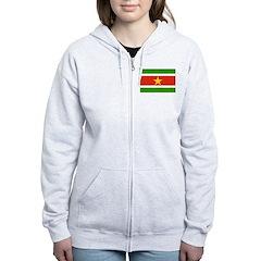 Suriname Flag Zip Hoodie