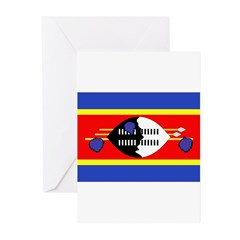 Swaziland Flag Greeting Cards (Pk of 10)