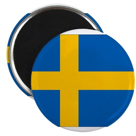 "Sweden Flag 2.25"" Magnet (10 pack)"