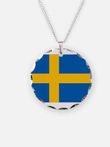 Sweden Flag Necklace
