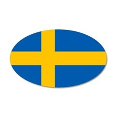 Sweden Flag 22x14 Oval Wall Peel