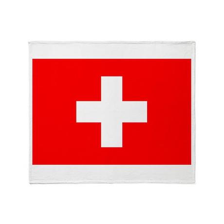 Switzerland Flag Throw Blanket
