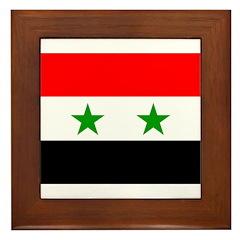 Syria Flag Framed Tile
