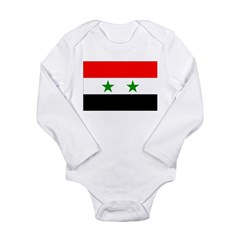 Syria Flag Long Sleeve Infant Bodysuit