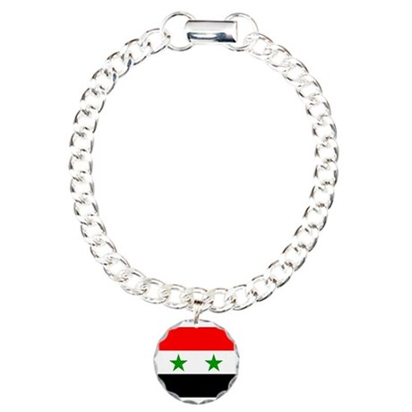 Syria Flag Charm Bracelet, One Charm