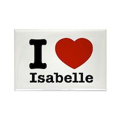 I love Isabelle Rectangle Magnet