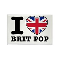 I love Brit Pop Rectangle Magnet