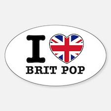 I love Brit Pop Decal