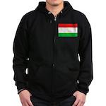 Tajikistan Flag Zip Hoodie (dark)