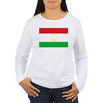 Tajikistan Flag Women's Long Sleeve T-Shirt