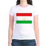 Tajikistan Flag Jr. Ringer T-Shirt
