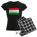 Tajikistan Flag Women's Dark Pajamas